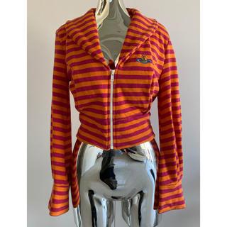 ヴィヴィアンウエストウッド(Vivienne Westwood)のVivienneWestwood ボーダー カットソー トップス オレンジ(カットソー(長袖/七分))