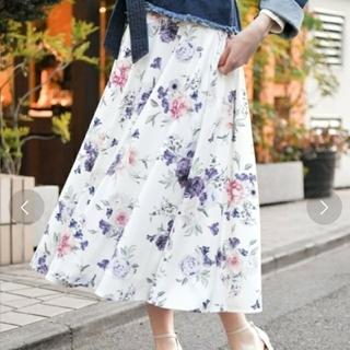 アンデミュウ(Andemiu)の花柄フレアスカート(ロングスカート)