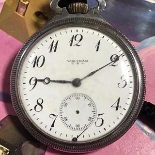 ウォルサム(Waltham)のWALTHAM  U.S.A nickel アンティックオールド手巻き 懐中時計(腕時計(アナログ))