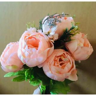 造花 薔薇 バラ アーティフィシャルフラワー ピンク オレンジ 高級(その他)