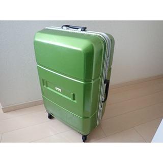 スーツケース キャリーケース Lサイズ 大型 大容量 グリーン 長期滞在型(旅行用品)