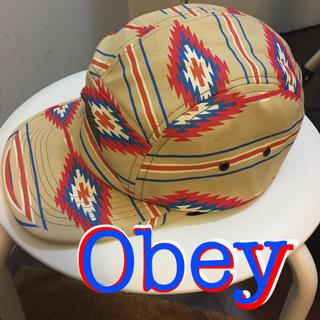 オベイ(OBEY)のObeyオベイネイティブ柄ジェット?キャップ neweraCA4LA西海岸USA(キャップ)