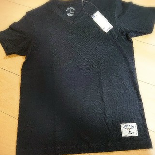 ジーユー(GU)のsale!スヌーピーワッペン付きTシャツ ブラック(その他)