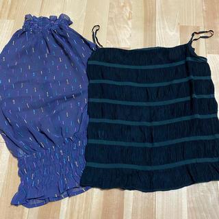 アクアブルー(Aqua blue)のアクアブルー Aqua blue アダムエロペADAM ET ROP 2枚セット(シャツ/ブラウス(半袖/袖なし))