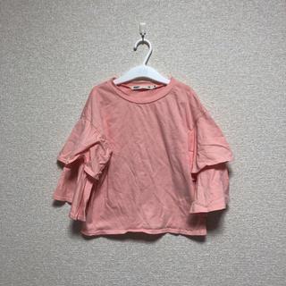 セブンデイズサンデイ(SEVENDAYS=SUNDAY)のsevendays Sunday / 120センチ 袖フリルトップス(Tシャツ/カットソー)
