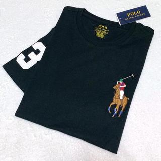 ポロラルフローレン(POLO RALPH LAUREN)のメンズ XS 新品 ビッグポニー×ナンバリング T / ブラック(Tシャツ/カットソー(半袖/袖なし))