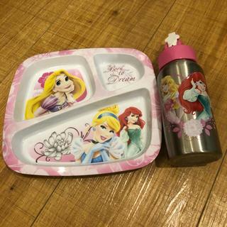 ディズニー(Disney)のプリンセス プレート ボトル(離乳食器セット)