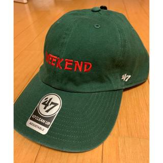 コモリ(COMOLI)のWEEKEND Baseball Cap green 完売品(キャップ)