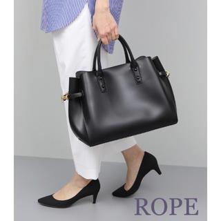 ロペ(ROPE)のROPE'  ロペ 【A4サイズ対応】ハンドバッグ ブラック(ハンドバッグ)