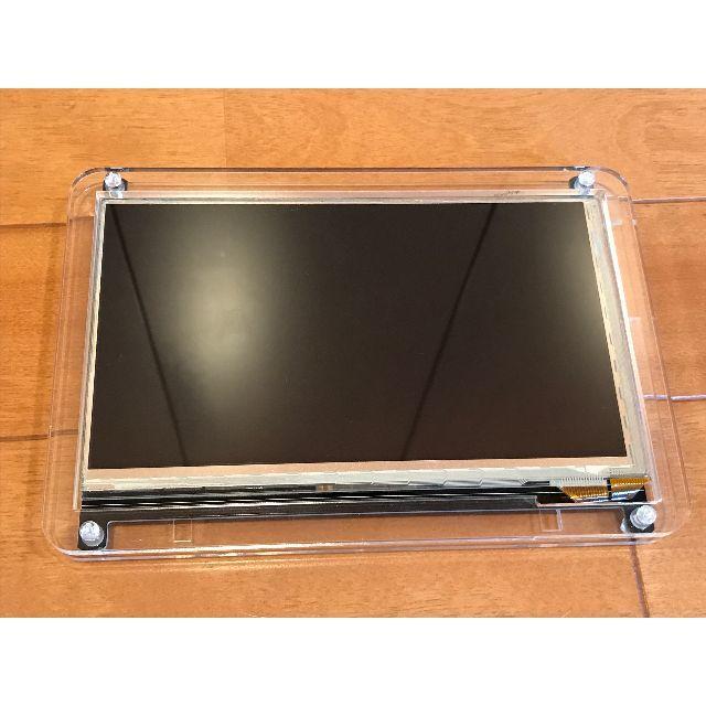"""Raspberry Pi 7""""ディスプレイ+スタンド スマホ/家電/カメラのPC/タブレット(ディスプレイ)の商品写真"""