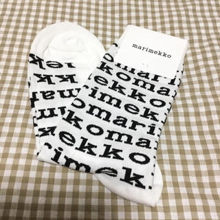 marimekko - 23.5〜24.5cm*マリメッコ靴下*マリロゴ