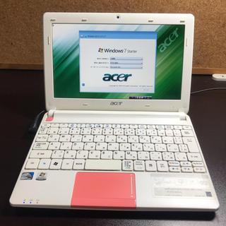 エイサー(Acer)のacer aspire one happy 250GB HDD(ノートPC)