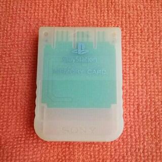 プレイステーション(PlayStation)のplaystationメモリーカード(シースルーホワイト)(その他)