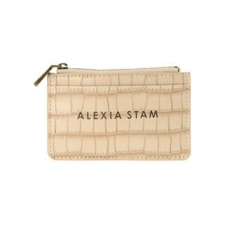 アリシアスタン(ALEXIA STAM)のALEXIA STAN Logo Card Case Beige(名刺入れ/定期入れ)