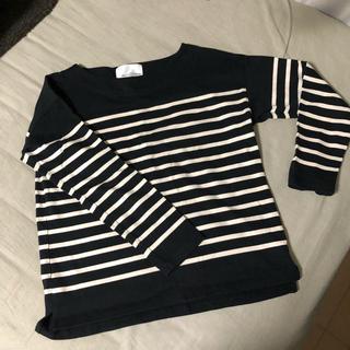 ドアーズ(DOORS / URBAN RESEARCH)のボーダーカットソー ブラック 黒 トップス(Tシャツ(長袖/七分))