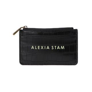 アリシアスタン(ALEXIA STAM)のALEXIA STAN Logo Card Case Black(名刺入れ/定期入れ)