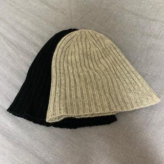 ロンハーマン(Ron Herman)のロンハーマン Ron herman ニットキャップ 黒 グレー 2種類(ニット帽/ビーニー)