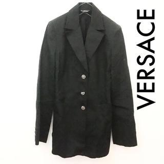 ジャンニヴェルサーチ(Gianni Versace)のVERSACE イタリア製 デザインボタン ジャケット(テーラードジャケット)