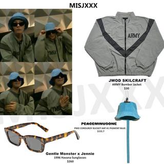 ピースマイナスワン(PEACEMINUSONE)のジヨン着用 peaceminusone ミリタリー ARMYジャケット(ミリタリージャケット)