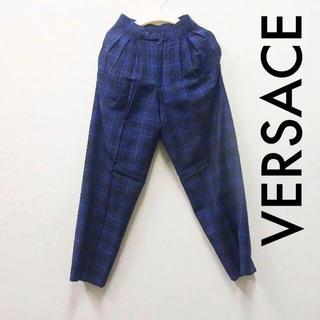 ジャンニヴェルサーチ(Gianni Versace)のVERSACE イタリア製 チェック柄 デザインスラックス(スラックス)