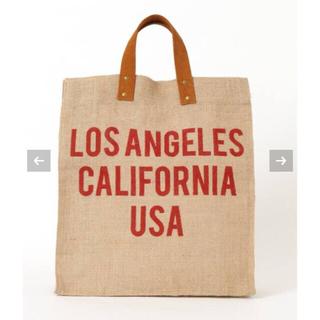 ドゥーズィエムクラス(DEUXIEME CLASSE)のMAISON BENGAL  jute tote bag Angeles レッド(トートバッグ)