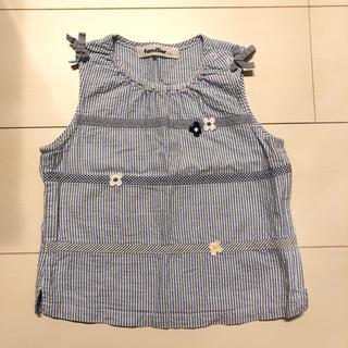 ファミリア(familiar)のファミリア ブラウス タンクトップ ストライプ リボン 90 110(Tシャツ/カットソー)