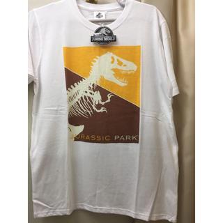 ユニバーサルエンターテインメント(UNIVERSAL ENTERTAINMENT)の新品 白 ジュラシックパーク Tシャツ 半袖 ジュラシックワールド USJにも(Tシャツ/カットソー(半袖/袖なし))