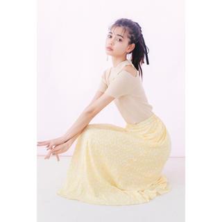 シマムラ(しまむら)の新品未使用 しまむら 前ボタン花柄スカート(ロングスカート)