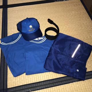 ミズノ(MIZUNO)のミズノ パンダマークの作業服 ズボン、帽子、ベルト(ワークパンツ/カーゴパンツ)