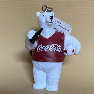 コカコーラ(コカ・コーラ)のお値下げ❣️新品未使用 コカコーラ 白クマ キーホルダー(ノベルティグッズ)