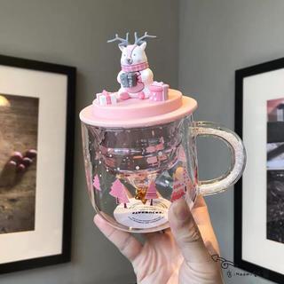 スターバックスコーヒー(Starbucks Coffee)のトナカイ クリスマス スワロフスキー ガラスマグカップ 台湾スターバックスグラス(グラス/カップ)
