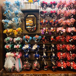 ディズニー(Disney)のカチューシャ イヤーハット ミニー 帽子 上海ディズニー ダッフィー ミッキー(キャラクターグッズ)
