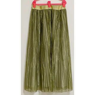 ドットアンドストライプスチャイルドウーマン(Dot&Stripes CHILDWOMAN)の値下げ!dot&stripesワッシャープリーツスカート(ロングスカート)