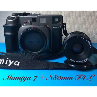 マミヤ(USTMamiya)の🔴逸品 Mamiya7 N80mm F4 L マミヤ7中判 フィルムカメラ (フィルムカメラ)