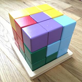 賢人パズル   カラフル立方体パズル(知育玩具)