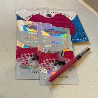 シグマ(SIGMA)のシグマ ブラシ&ブラシクリーニングマット ブラシシャンプー×2(ブラシ・チップ)