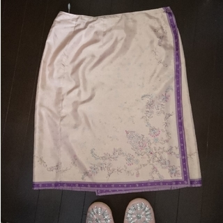 22OCTOBRE ラップスカート 44 13 15(ひざ丈スカート)