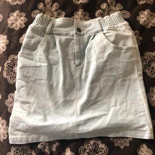 スピンズ(SPINNS)のデニムタイトスカート(ひざ丈スカート)