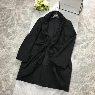 フォクシー(FOXEY)の美品 フォクシー FOXEY 洗える 中綿 ロング コート ブラック(ロングコート)