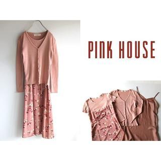 ピンクハウス(PINK HOUSE)のピンクハウス コレクション カーディガン/花柄ワンピース/ペチコート 3点セット(その他)
