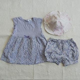 ペアレンツドリーム(Parents Dream)のペアレンツドリーム 90 ワンピース  ショートパンツ コンビミニ 帽子  50(ワンピース)