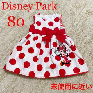 ディズニー(Disney)の未使用に近い ミニーちゃん ワンピース 80(ワンピース)