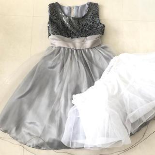 kids シルバースパンコールドレス‼︎(ドレス/フォーマル)