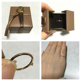 アガット(agete)のagete ダイヤ一粒ピンキーリング(リング(指輪))