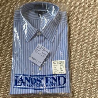 ランズエンド(LANDS'END)のランズエンド メンズ ワイシャツ ストライプシャツ(シャツ)