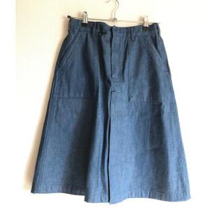 ハイク(HYKE)のハイク デニムスカート ブルー 1 HYKE(ひざ丈スカート)