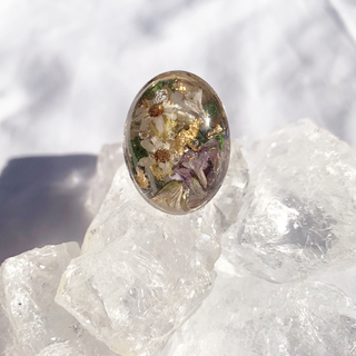 dome flower ring(リング)