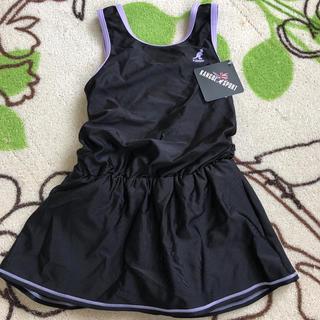 カンゴール(KANGOL)の新品 KANGOL ワンピース水着 120 ブラック プール 海 スカート(水着)