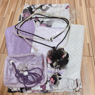 【美品・最終値下げ】OIOI*浴衣7点セット 薔薇(浴衣)