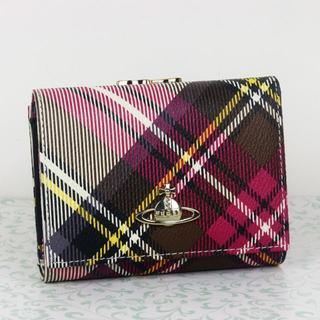 ヴィヴィアンウエストウッド(Vivienne Westwood)の新品★Vivienne Westwood 折財布 がま口財布 チェック柄(財布)
